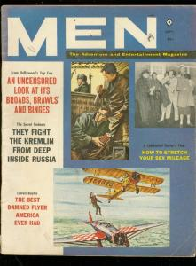 MEN MAGAZINE SEPT 1960-CLAUDIA CARDINALE-WW2-PULP FICTI FN