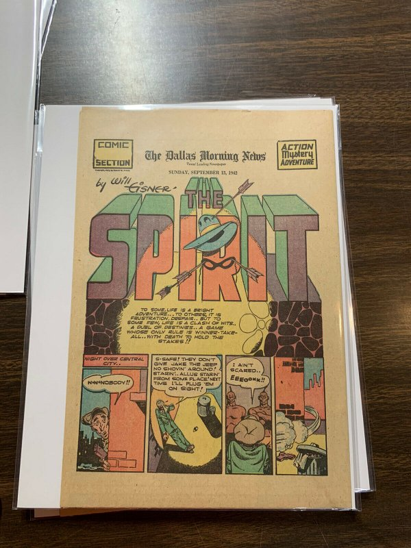 The Spirit Comic Book Section Newspaper Very Fine Or Better 1942 September 13