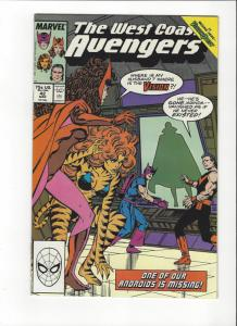 West Coast Avengers #42 1st Byrne Art  NM