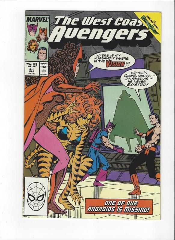 West Coast Avengers #42 1st Byrne Art  NM