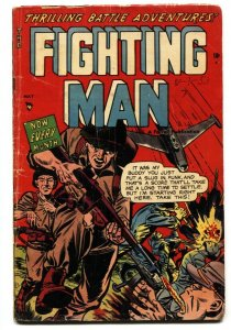 Fighting Man #7 AMERICAN SOLDIER SHOT ON COVER! Golden-Age comic