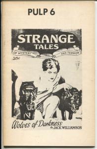Pulp #6 1974-Nick Carr -Norvelle W. Page-pulp reprints-VG/FN