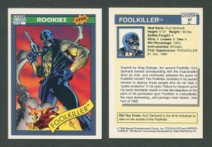 1990 Marvel Comics Card  #87 (Foolkiller) / NM
