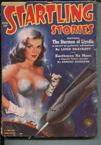 Startling Stories Pulp March 1951-THRILLING-SPICY BABE-CAPTAIN FUTURE -good