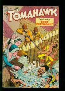 TOMAHAWK #26 1954- DC WESTERN - FORT PETTICOAT- GOLDEN AGE VG