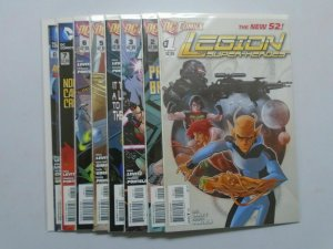 Legion of Super-Heroes (2011 7th Series) #1-8 Run - 8.0 VF - 2011
