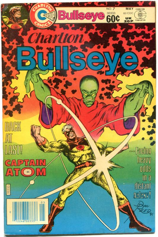 CHARLTON BULLSEYE #7, FN, Captain Atom, NightShade, 1981 1982, more in store