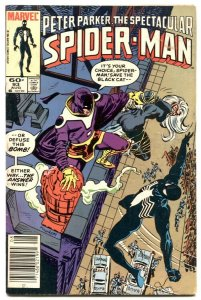 Spectacular Spider-Man #93 1984-  Black Cat- Answer FN