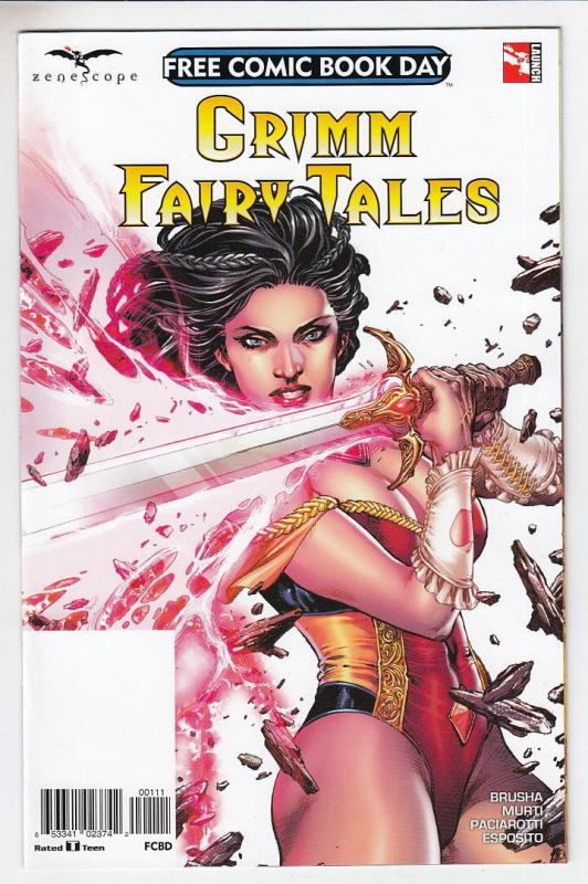 GRIMM FAIRY TALES (2017 ZENESCOPE ENTERTAINMENT INC) #1 Unstamped NM-  FCBD 2017