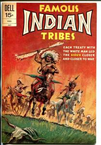 Famous Indian Tribes #21 1972-Dell- Sioux Indians-Custer's Last Stand-FN+
