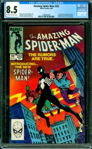 Amazing Spider-Man #252 CGC Graded 8.5 Ties with Marvel Team-Up #141 for 1st ...