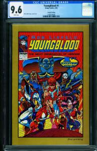 YOUNGBLOOD #1 Second Print-CGC GRADED 9.6-ROB LIEFELD 1248234006