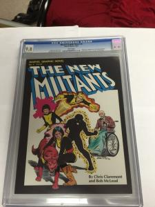 Marvel Graphic Novel 4 Flawless Perfect Centering Cgc 9.8 Wp 1st New Mutants