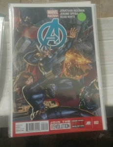 Avengers # 2 2013 Marvel now hickman  thor iron man black widow falcon hawkeye