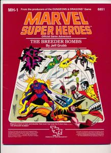 Marvel Super Heroes The Breeder Bombs D&D Style Adventure Game MH-1 6851(HX936)