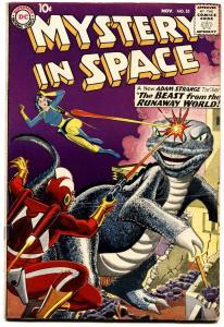 MYSTERY IN SPACE #55 1959-ADAM STRANGE-GREYTONE COVER-WILD SCI FI -FN