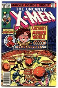 UNCANNY X-MEN #123 1979-MARVEL COMICS--SPIDER-MAN ISSUE VF-