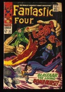 Fantastic Four #63 Fair 1.0 Marvel Comics