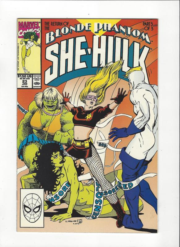 Sensational She-Hulk #23 (1989) Blonde Phantom NM