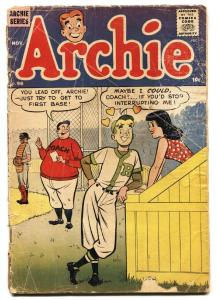 Archie #96 1958-MLJ-Betty-Veronica Baseball cover