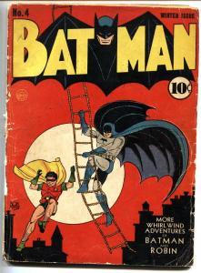 BATMAN #4-1940-Joker appears-First GOTHAM CITY mention-BOB KANE-DC