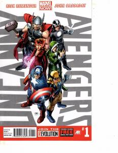 Lot Of 2 Marvel Comic Books Uncanny Avengers #1 18 MS20