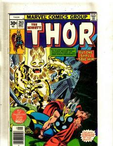 12 Thor Marvel Comics #263 267 282 351 352 355 362 396 397 398 399 400 J369