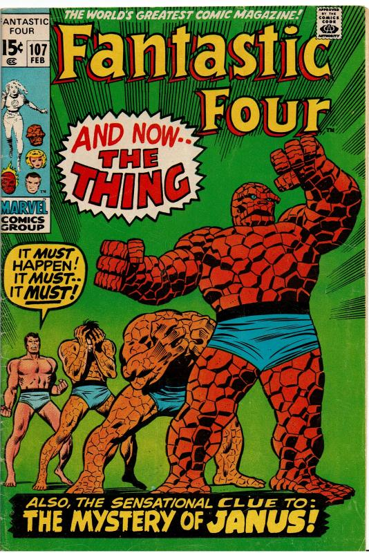 Fantastic Four #107, 3.0 or Better *KEY* 1st Janus the Nega-Man & 2nd Annihilus