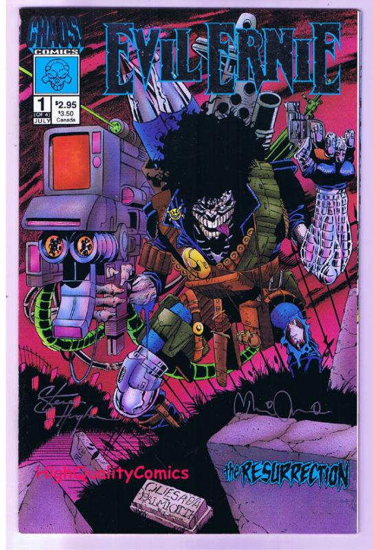 EVIL ERNIE RESURRECTION #1, NM-, Signed by Steven Hughes, more EE in store