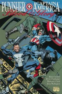 PUNISHER CAPTAIN AMERICA BLOOD & GLORY 1-3  complete