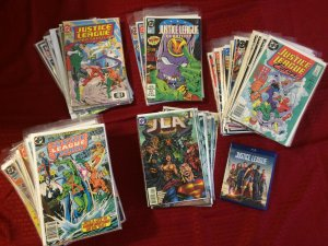 DC Justic League Lot of 100 + Issues Vintage and Justic League Blue Ray