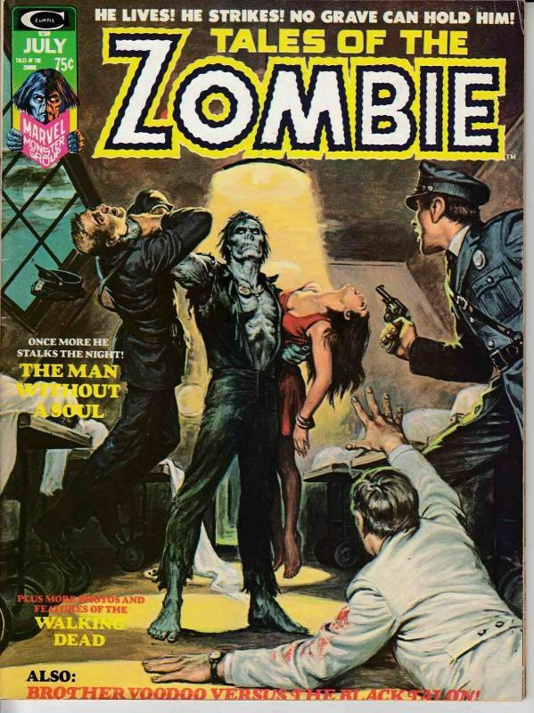 TALES OF THE ZOMBIE MAGAZINE #6 (1974) MARVEL COMICS FINE/VERY FINE (7.0)