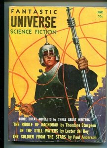 FANTASTIC UNIVERSE SCIENCE FICTION-SEPT 1956-POHL-RUSSELL VF