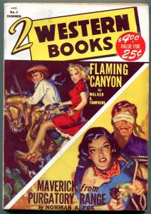 Two Western Books Pulp #3 Summer 1949- Walter A Tompkins-Norman Fox VF