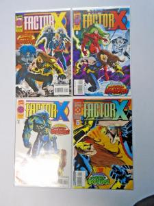 Factor-X set #1 to #4 8.0 VF 4 different books (1995)