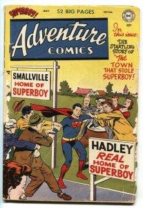 ADVENTURE COMICS #166-SUPERBOY-AQUAMAN-GREEN ARROW-JOHNNY QUICK--DC-1951