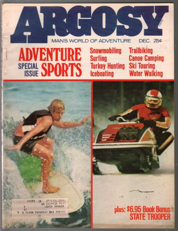 Argosy 12/1973-surfboard cover-91st Anniversary Issue-pulp fiction-historic-FN