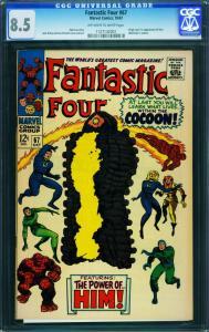 Fantastic Four #67cgc 8.5 1967 him/warlock Origin-jack Kirby 1127142001