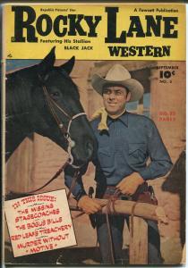 Rocky Lane Western #5 1949-Fawcett-photo cover-B-Western star-VG