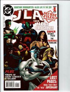 JLA Secret Files & Origins # 1 NM- DC Comic Book Batman Superman Flash Atom J123