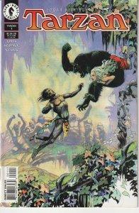 Tarzan(Dark Horse) # 7 Jane struck down by Mutated Ape !
