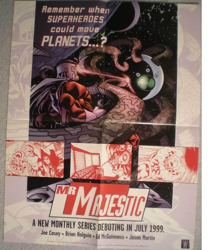 MR. MAJESTIC Promo poster,  17x22, 1999,  Unused, more Promos in store