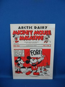 Mickey Mouse Magazine ARCTIC DAIRY Giveaway VF NM FILE COPY 1934 Golf Babe Ruth