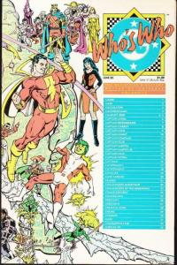 WHO'S WHO #4, VF/NM, Perez, Shazam, DC 1985  more DC in store