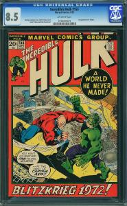 Incredible Hulk #155 (Marvel, 1972) CGC 8.5