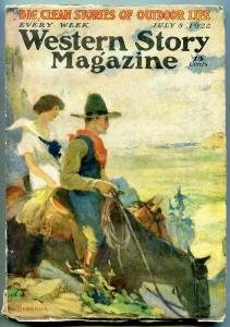 Western Story Magazine Pulp July 8 1922- Stephenson cover VG