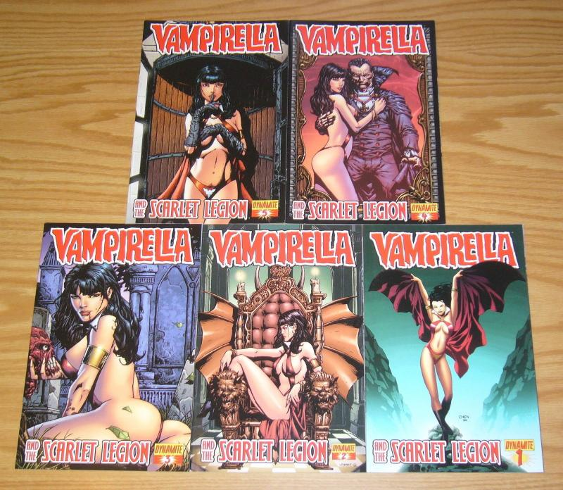 Vampirella and the Scarlet Legion #1-5 VF/NM complete series - all B variants
