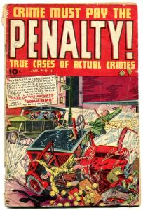 Crime Must Pay The Penalty #4 1948-Canadian edition rare F/G