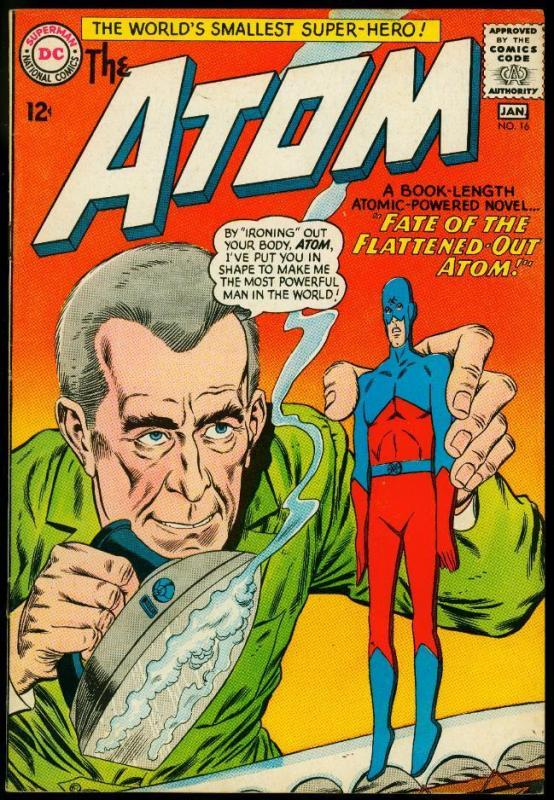 The Atom #16 1964- Iron cover- Gil Kane- DC Silver Age FN/VF