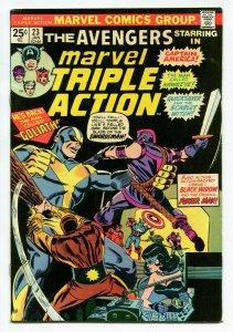 Marvel Triple Action 23 VF+ 8.5 Avengers Marvel 1974 Uncertified FREE SHIP